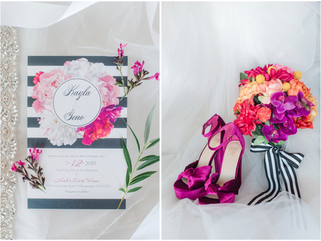 Kayla + Geno | A Colorful Wedding at Noah's Event Venue