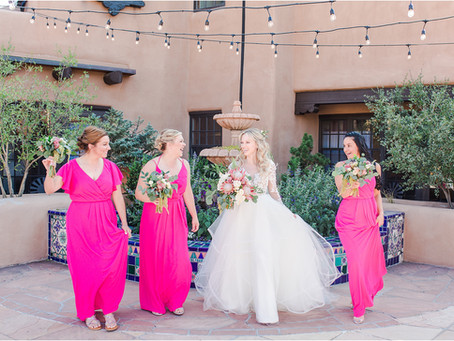 Julie + Evan | Intimate and Bold Wedding at La Fonda | Santa Fe Wedding Photographers