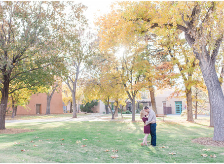 Rebecca + Nathan | A Fall Engagement at UNM | Albuquerque Wedding Photographer