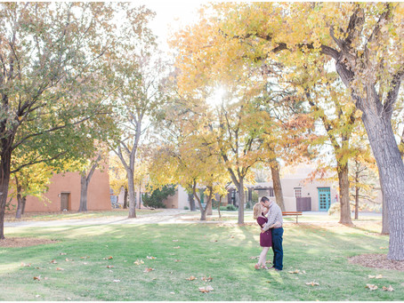 Rebecca + Nathan | A Fall Engagement at UNM | Albuquerque Wedding Photographer
