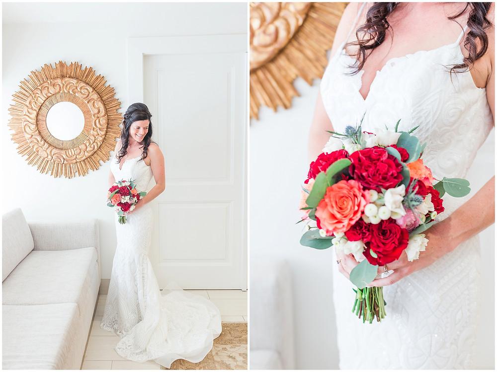 El Dorado Santa Fe. El Dorado Wedding. Santa Fe Wedding. Santa Fe Wedding Photographer. New Mexico Wedding. New Mexico Wedding Photographer. Lace Wedding Dress. Bold Wedding Bouquet. Bright Wedding Bouquet.