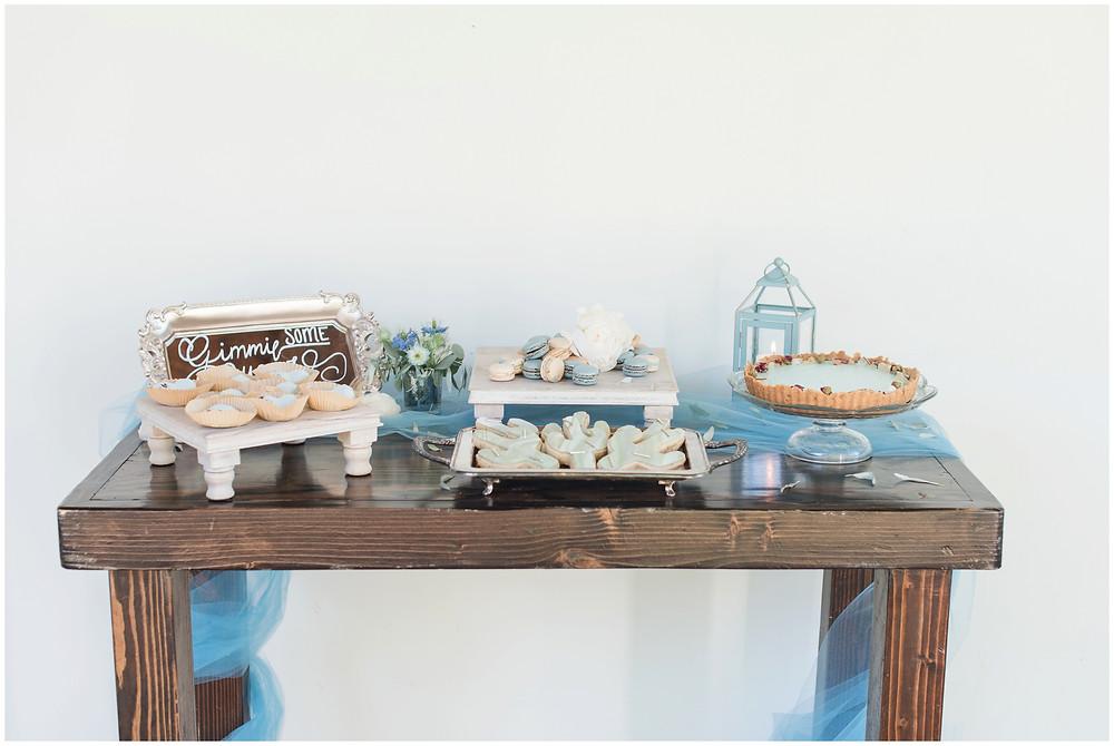 Wedding at Los poblanos. dusty blue wedding. new mexico wedding venue. outdoor wedding. spring wedding. albuquerque wedding. new mexico wedding photographer. maura jane photography. dessert table.