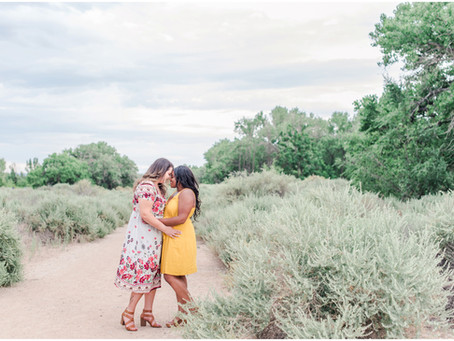 Courtney + Marie | A Blooming Summer Engagement
