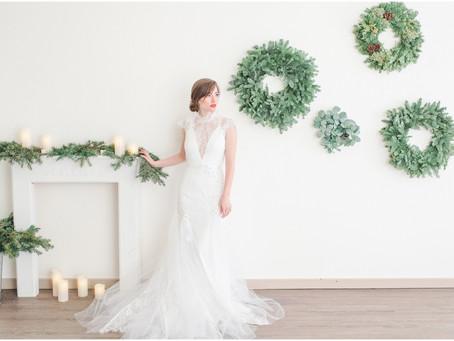 A Christmas Bridal Portrait Session