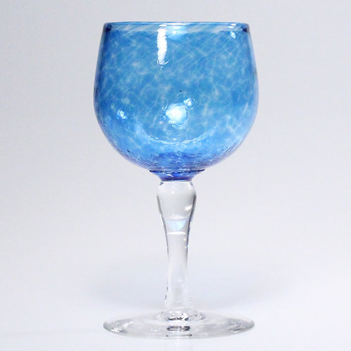 wine glass blue