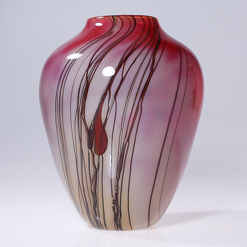 Lily Vase Red
