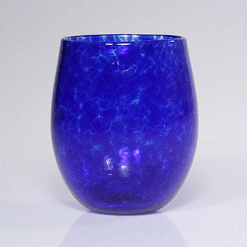 stemless wine cobalt