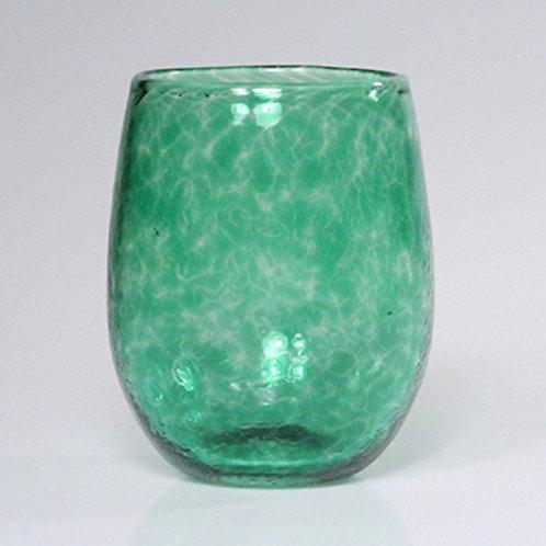 stemless wine green