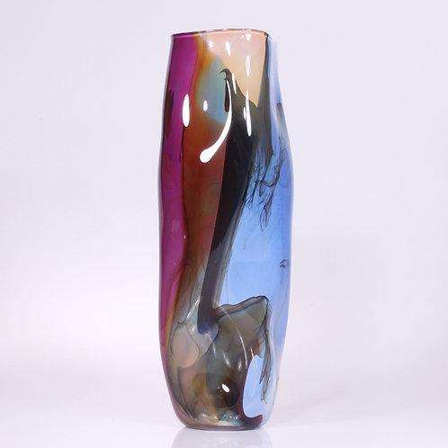 Kimono Vase Tall Blue-Amethyst