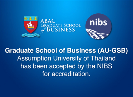 ABAC-GSB received Initial Accreditation by Network of International Business Schools (NIBS)