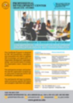 Certificate Program in Organization Deve