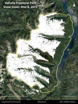 Snow cover in Valhalla Provincial Park