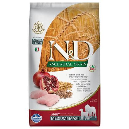 Croquettes Chien Farmina N&D Ancestral Grain, céréales anciennes