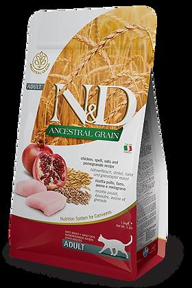 Croquette Chat Farmina N&D Ancestral Grain, avec céréale, avec ZIP refermable