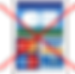 Logo carte bancaire barré