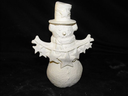 Country Snowman with stars