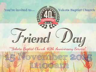 YBC 40th Anniversary Friend Day