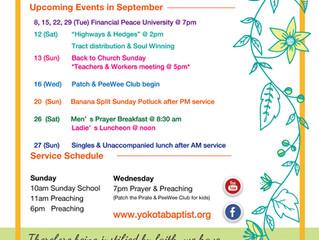 2020 September Events