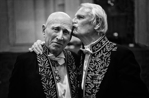 Sebastião Salgado et Yann Arthus-Bertrand ©Nikos Aliagas