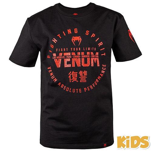 T-SHIRT ENFANT VENUM SIGNATURE KIDS - NOIR/ROUGE VENUM