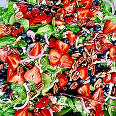 Strawberry-Spinach Salad // serves 10