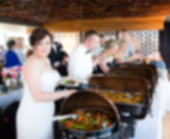 Vue Corvallis Event Venue Wedding Forks and Corks Catering Dinner Buffet Bride Reception