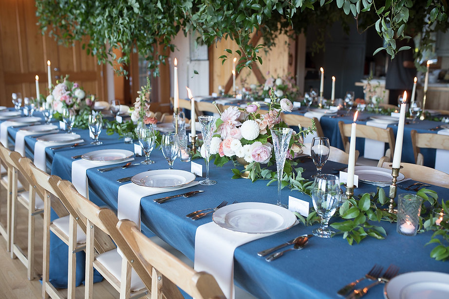 long tables with dining sets