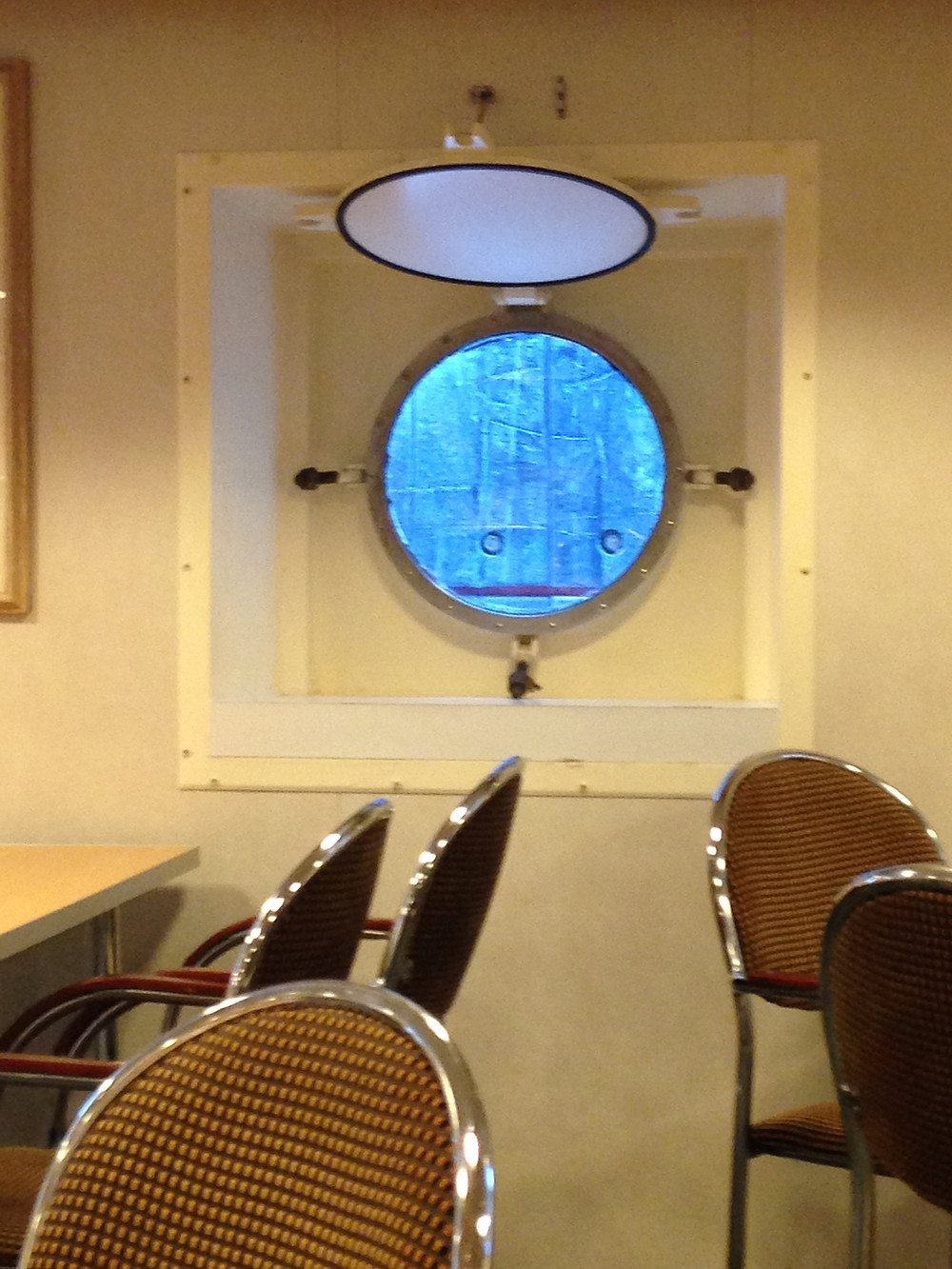 The creeper peeping in the officers' mess.