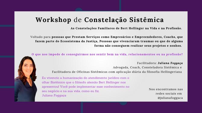Workshop de Constelação Sistêmica/Familiar