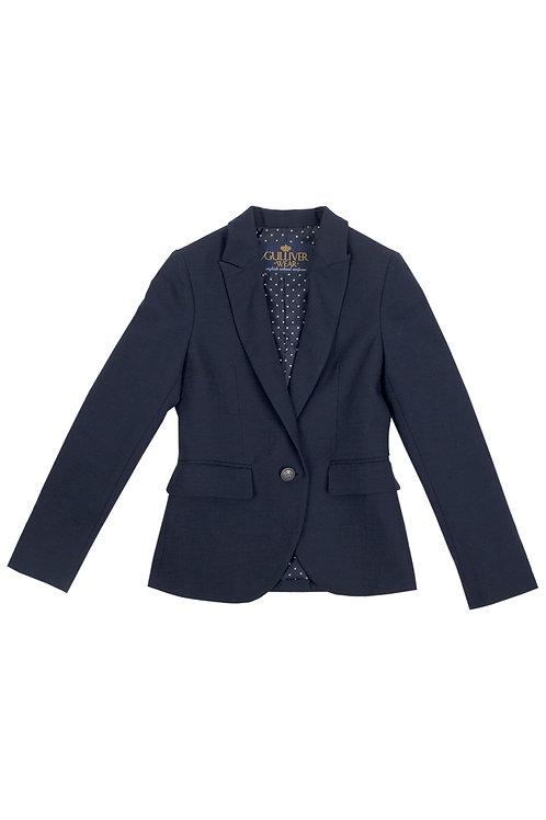 Жакет синий из костюмной ткани, 122 рост