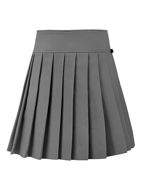 Юбка серая текстильная, 140 рост