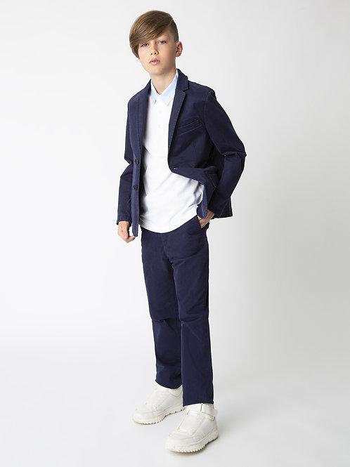 Пиджак зауженный синий - Твил