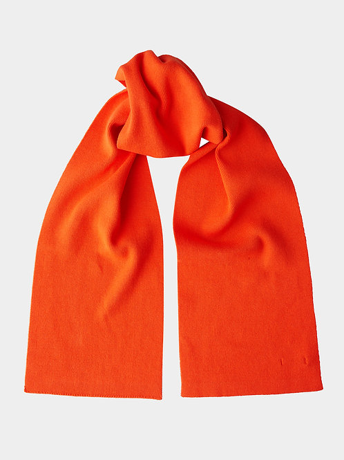 Шарф вязаный оранжевый Gulliver