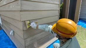 モデルハウス塗装作業