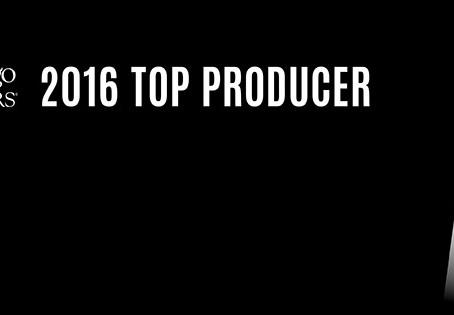 "Greg Viti Named a ""Top Producer"" of 2016"