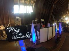 The Blue Dress Barn, Benton Harbor MI Wedding Setup