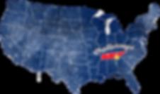 United States Map Grunge White Chattanoo