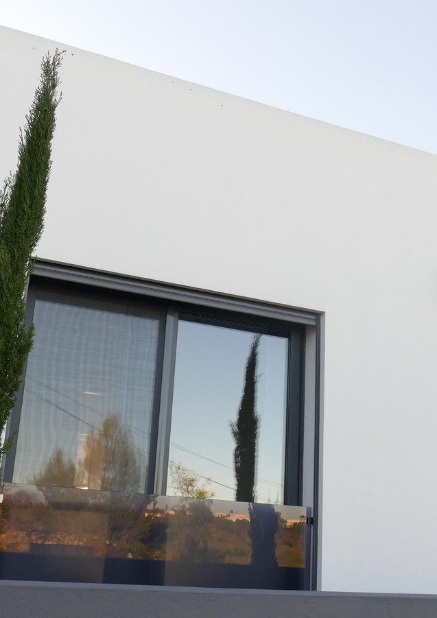 Front of villa - view from the parking area.