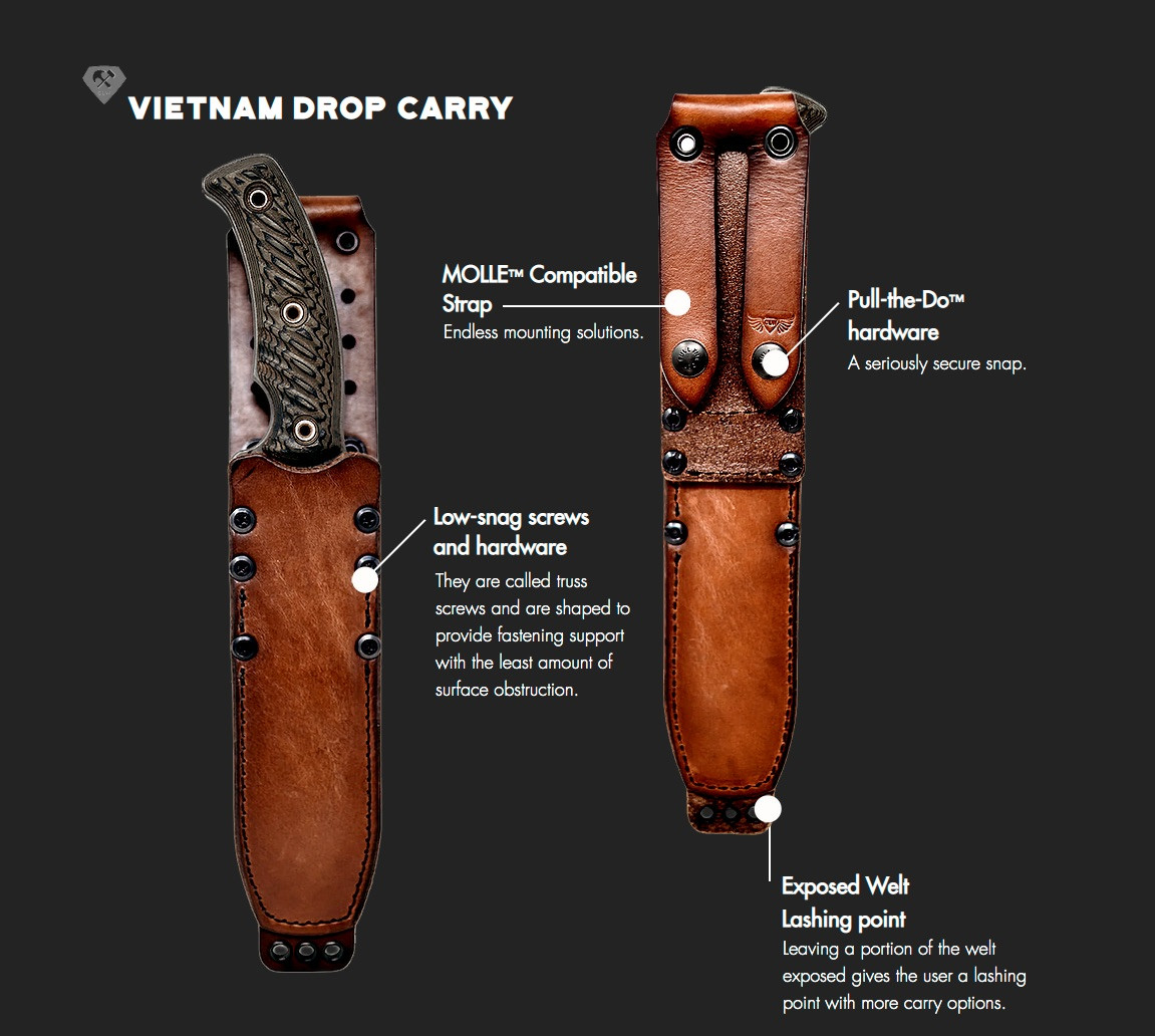 Chattanooga Leather Works Vietnam Drop C