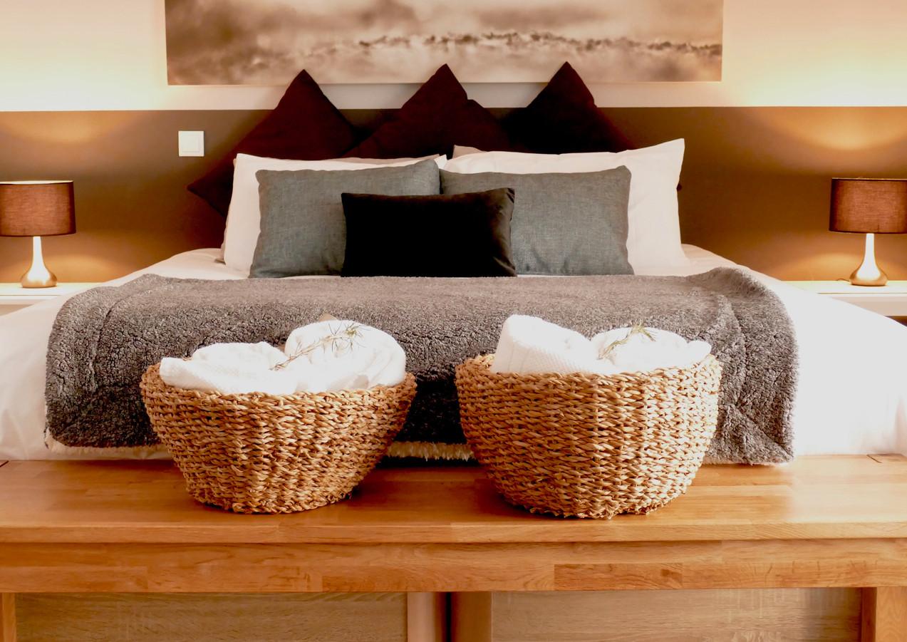 Castle-view bedroom