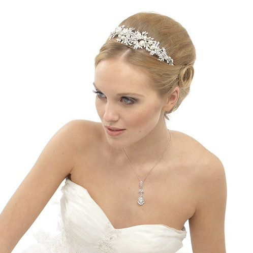Luxe Enchanting Pearl Tiara - (T10)