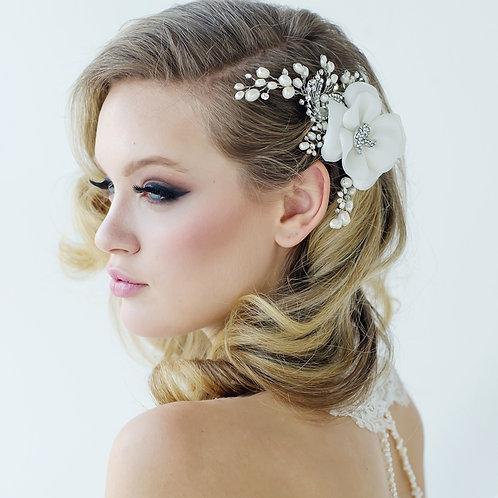 Miriam Wedding Headpiece - Ivory - SASSB