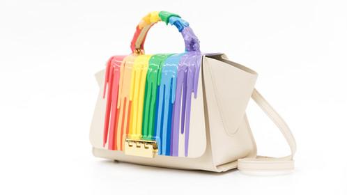 Rubber Rainbow Drip Handbag