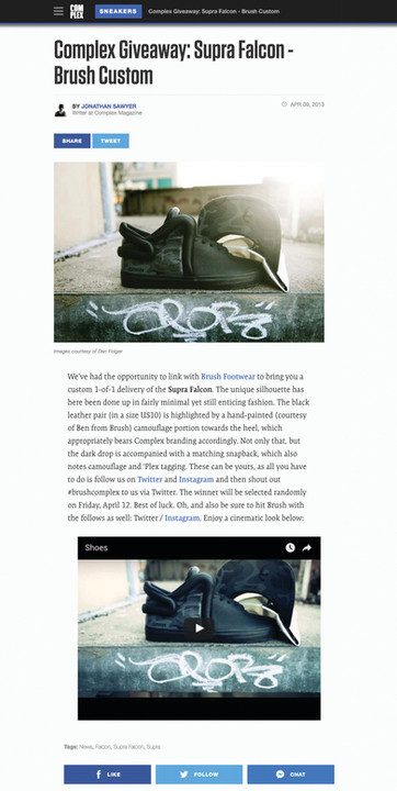 Press, Ben Smith Studios has been published and featured in Peoples Magazine, Oprah Magazine, Hypebeast, US weekly, Men's Health, Esquire, Nice Kicks, Footwear News