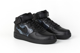 G-Eazy Custom Nike Air Force 1s, Hand-painted geometric painting on the upper.
