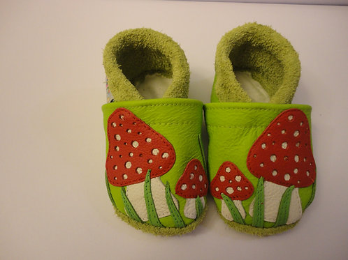 Kinderlederschuh Modell Pilze