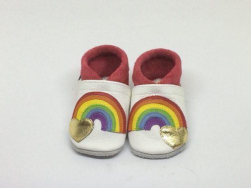 Kinderlederschuh Modell Regenbogen
