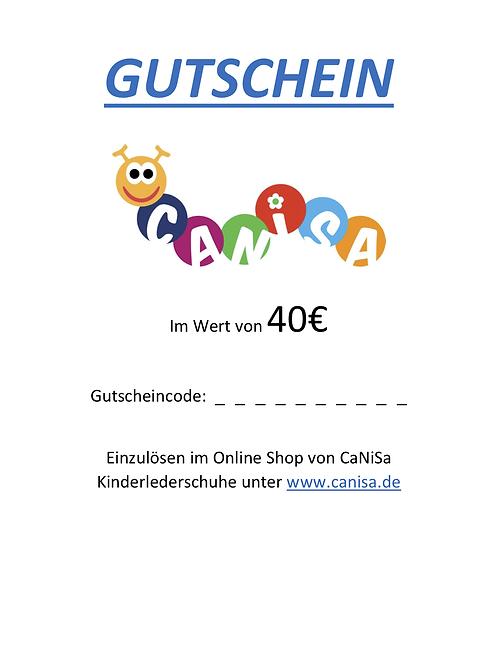40€ - CaNiSa Gutschein zum Drucken