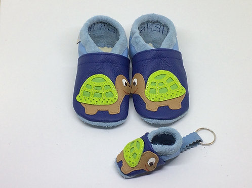 Kinderlederschuh Modell Schildkröte Junge