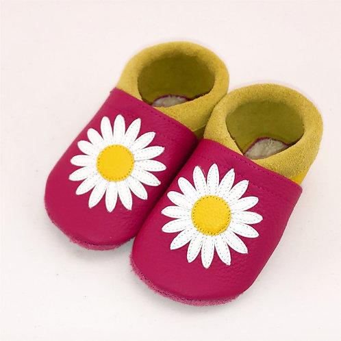 SK Kinderlederschuh Margeritengänseblümchen